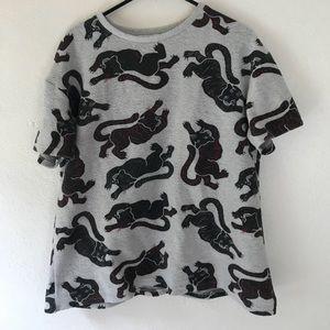 Zara fuzzy tiger top
